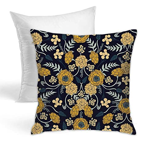 Amazon.com: Eratdatd Navy Blue Turquoise Cream & Mustard ...