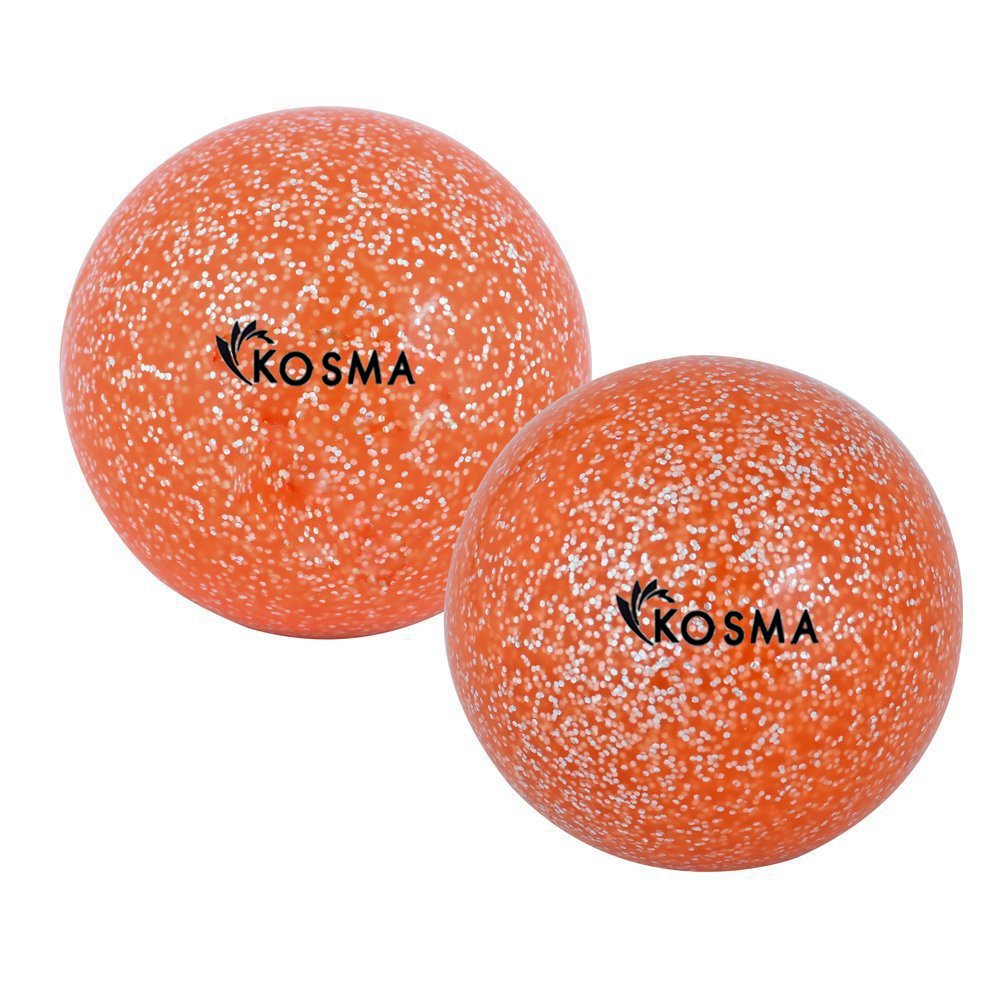 Kosma Glitter Set de 2 pelotas de Hockey | Formación Hockey Ball - Golden,Rosa Montstar Global KG-21877