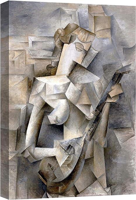 Canvashop Quadri Moderni Soggiorno Picasso Donna Mandolino Quadro Stampa Su Tela Cm 70x50 Amazon It Casa E Cucina