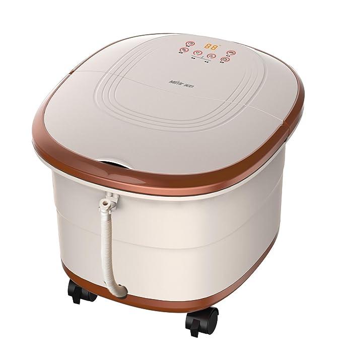 El chocolate de color baño de pies Spa Con calentador de agua (dos eléctricos rodillos de masaje, 16 Imitación ágata bolas): Amazon.es: Salud y cuidado ...