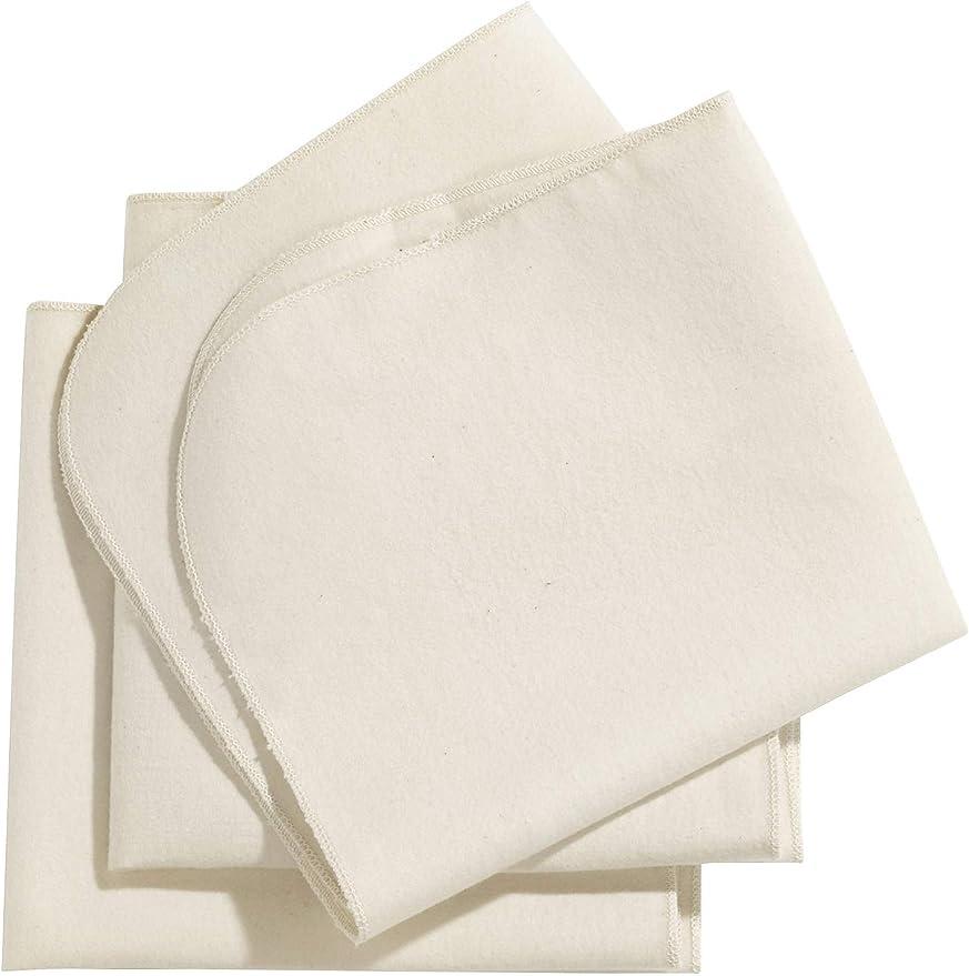 hessnatur Baby M/ädchen und Jungen unisex Molton-Tuch 3er-Pack aus reiner Bio-Baumwolle