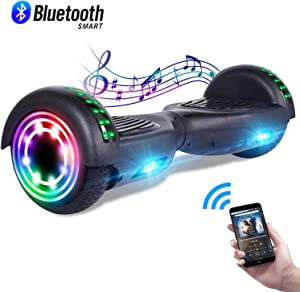 CBD Bluetooth Hoverboard for Kids, 6.5 Inch Two Wheel Hoverboard, Self Balancing Hoverboard with Bluetooth and LED Lights, UL2272 Certified