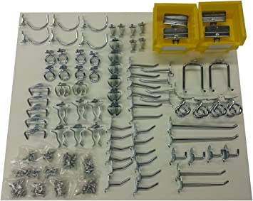 30 Piece Siegen S0766 Hook Assortment For Composite Pegboard