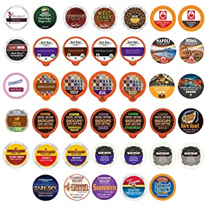 40 Count BOLD & DARK ROAST COFFEE Single Serve Cups For Keurig K-Cup Brewers Variety Pack Sampler (Bold Sampler)