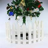 Ieve 4pz bianco Fence albero di Natale festa di nozze decorazione casa giardino in miniatura (One Pack è di 100cm in totale)