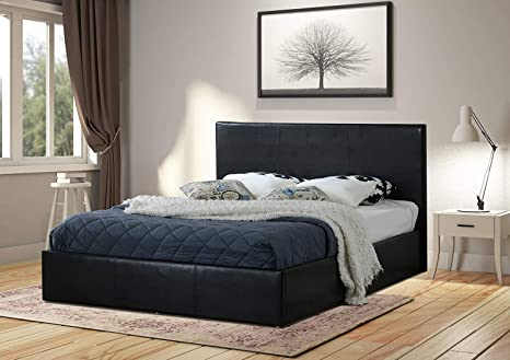 Swell Home Treats Black Ottoman Bed Frame With Lift Up Storage 4 Sizes Available Small Double 4 Ft Creativecarmelina Interior Chair Design Creativecarmelinacom
