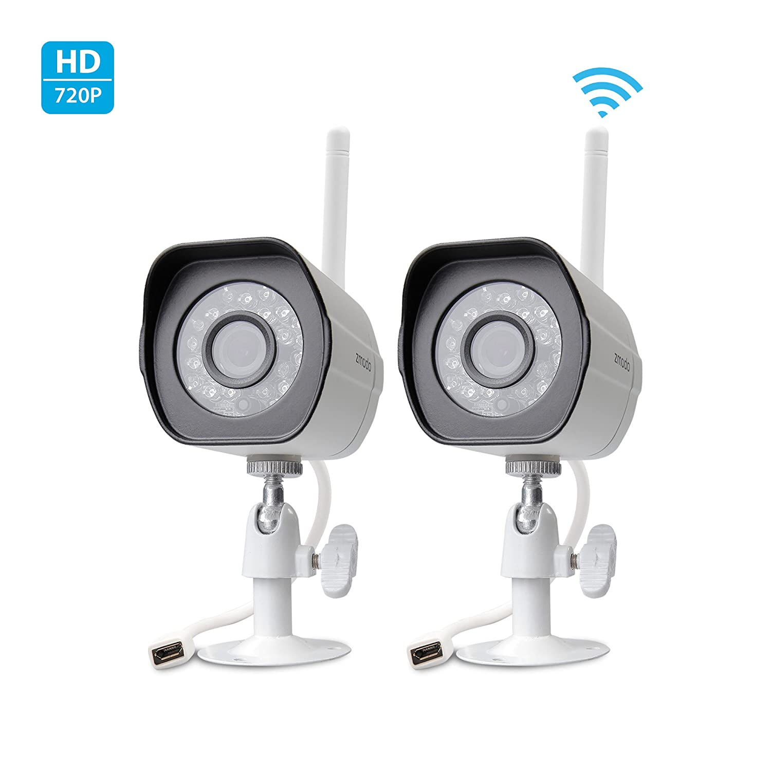 Amazon.com : Zmodo Smart Wireless Security Cameras- 2 HD Indoor ...