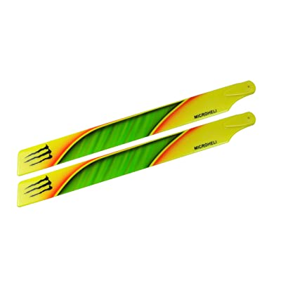 Microheli Plastic Main Blade 240mm B Style - Blade 230S / 230S V2: Toys & Games