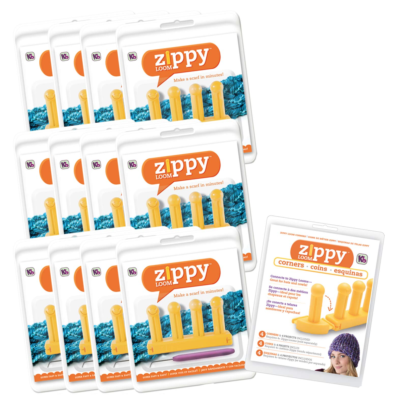 Authentic Knitting Board KB6012 Zippy Looms, Bulk, ((13 Pack) Piece