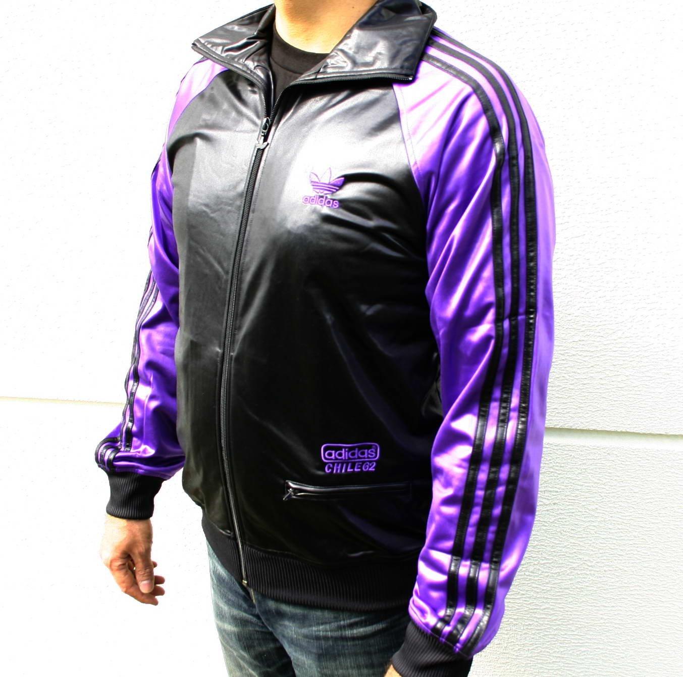 adidas Originals Chile 62 Colblo TT Jacke Sportjacke schwarz lila Herren