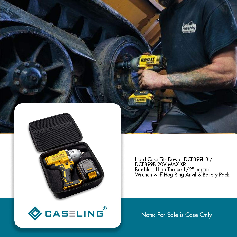 Caseling Hard Case Fits Dewalt DCF899HB / DCF899B 20V MAX XR Brushless High Torque 1/2'' Impact Wrench with Hog Ring Anvil & Battery Pack by caseling (Image #6)