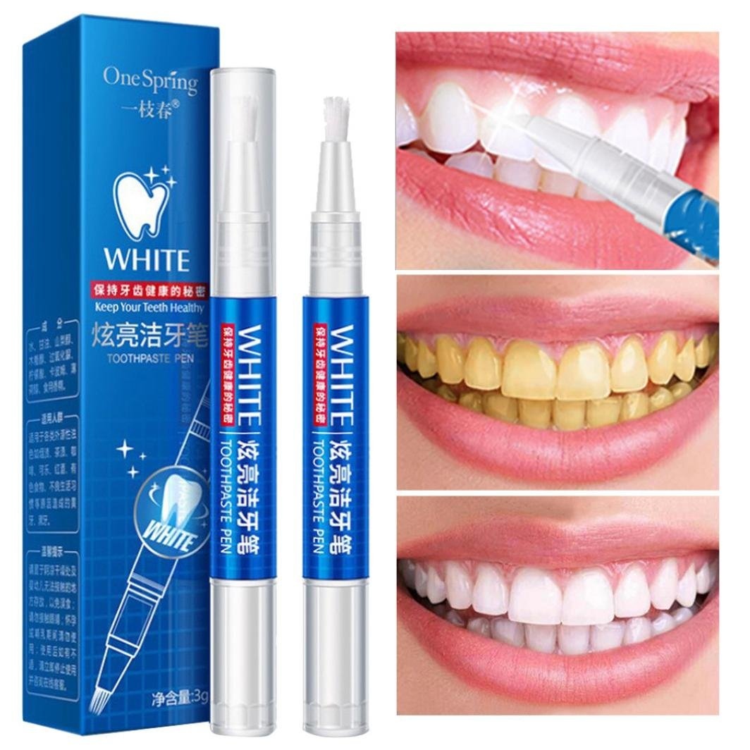Whitening Gel Pen, SANNYSIS Cleaning Bleaching Dental Professional Kit Teeth Tools