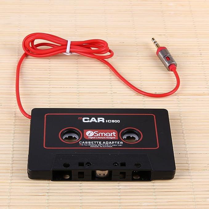 Everpert Adaptateur cassette de voiture avec prise jack 3,5 mm pour lecteur MP3