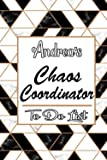 Amazon.com: Andrea's Marble Chaos Coordinator: Weekly And Daily Task Planner | Daily Work Task Checklist | Lovely Personalised Name Journal | To Do List to, Andrea personalized notebook gift (9798693257382): publishing, Andrea BD: Books