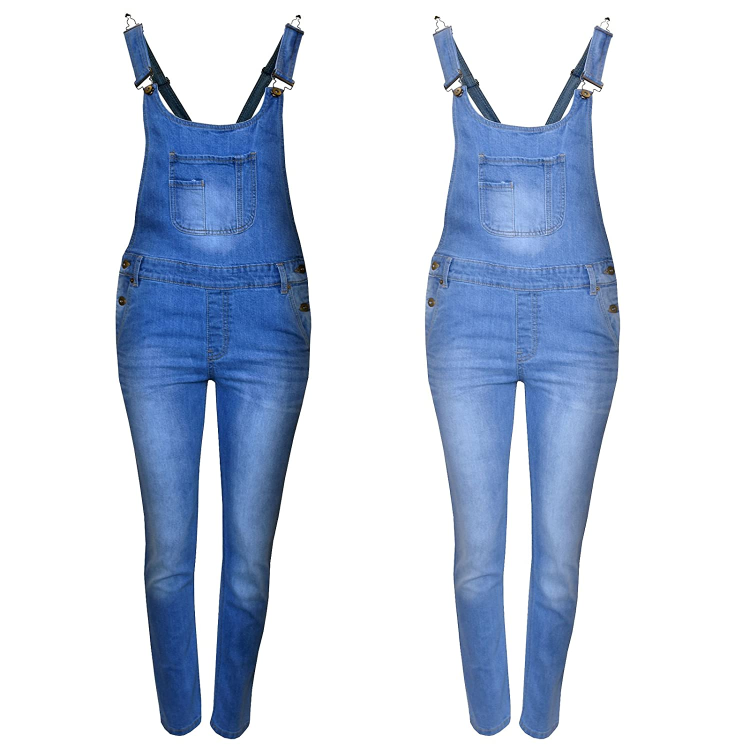 ShopOnline/® Kids Denim Dungaree Girls Jumpsuit Childrens Playsuit Overall Relaxed Romper Jean TOP