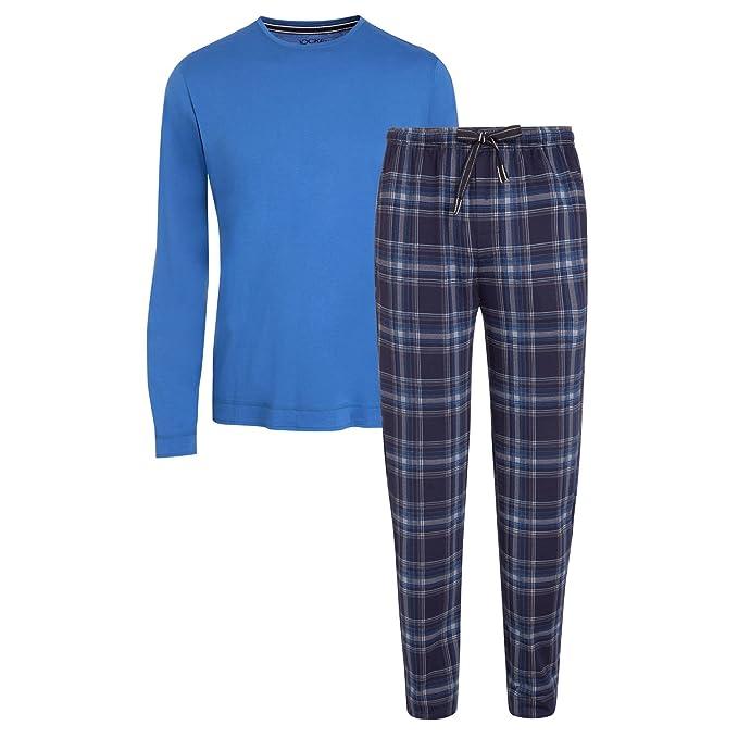 Jockey Long-Sleeve T-Shirt /& Bottoms Jersey Men/'s Pyjama Set Blue//Grey