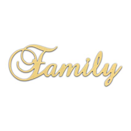 Amazon Com 10 Family Script Cursive Text Word Unfinished Diy