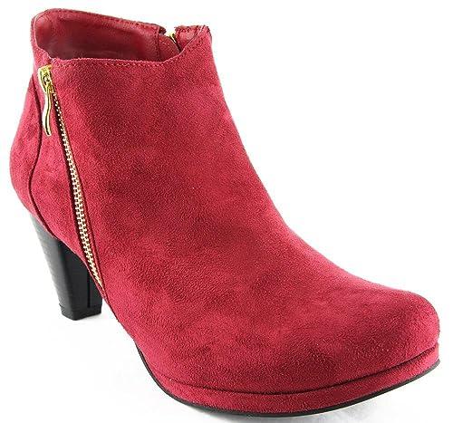 Andrea Conti Zapatos Botas Botines Bordo 2131, Color Rojo, Talla 43: Amazon.es: Zapatos y complementos