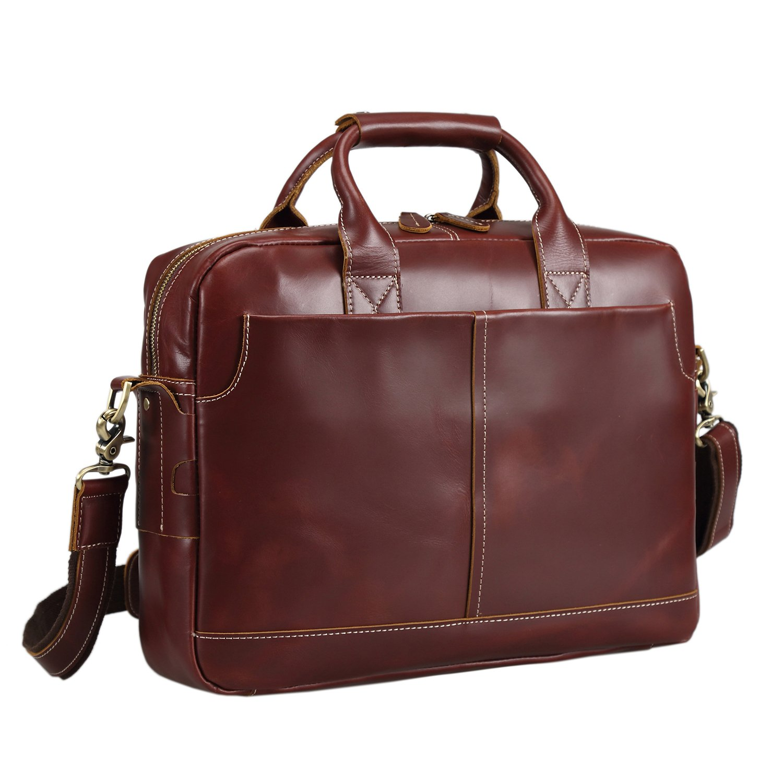Amazon.com  Texbo Genuine Full Grain Leather Men s 16 Inch Laptop Briefcase  Messenger Bag Tote  Computers   Accessories 9a1892c378ae9