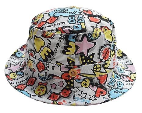 deeb27160f0 COMVIP Baby Kids Printed Summer Outdoor Bucket Hats Cotton Sun Cap   Amazon.co.uk  Clothing