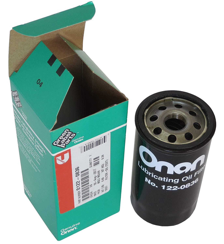 Onan 122-0836 0122-0836 Oil Filter for HGJAA HGJAB  Cummins
