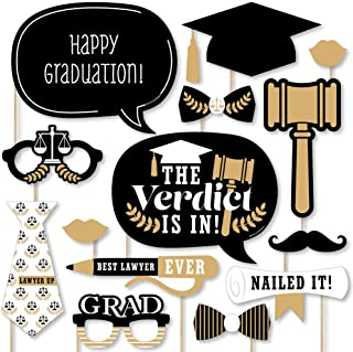 product image for Big Dot of Happiness Law School Grad - Future Lawyer Graduation Party Photo Booth Props Kit - 20 Count