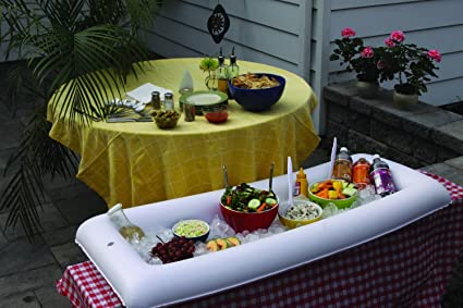 Amazon.com: Hinchable portátil Ensalada Servicio de buffet ...