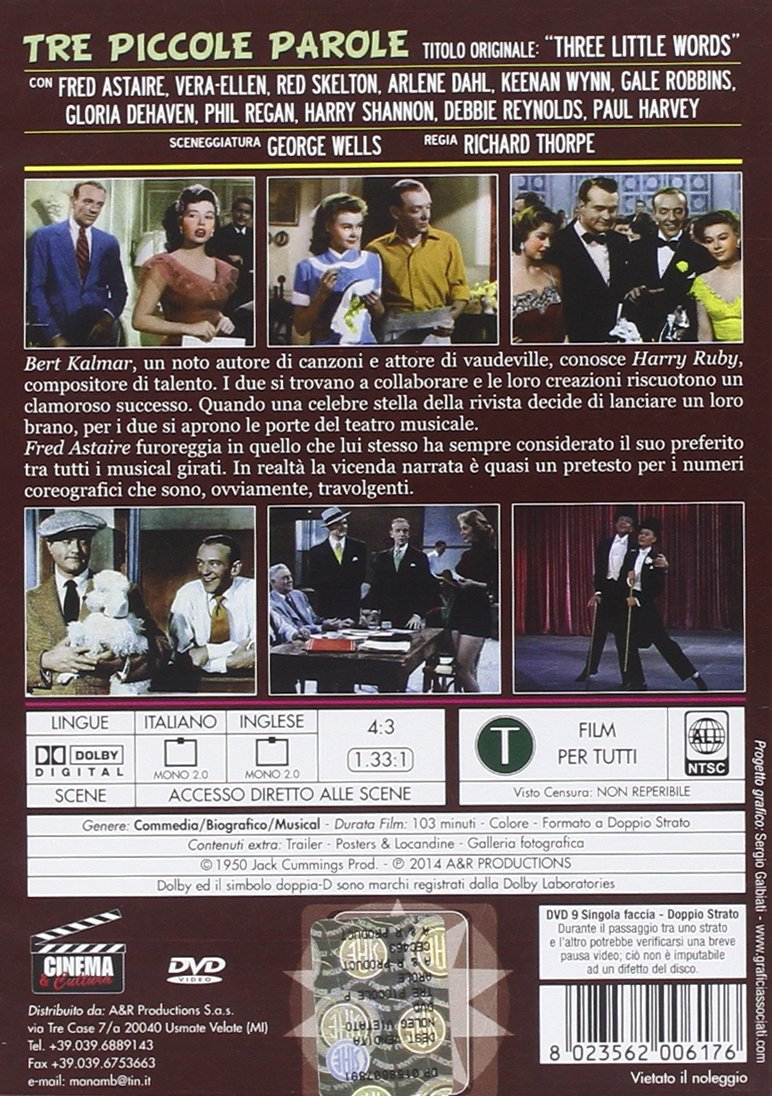 Tre Piccole Parole Dvd Italian Import Amazoncouk Fred Astaire