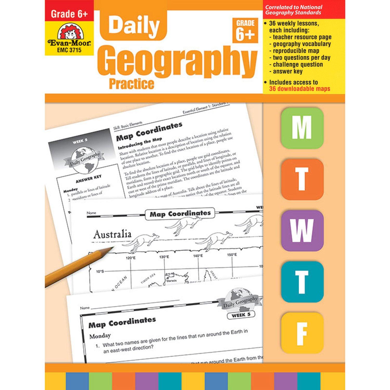 Amazon daily geography practice grade 6 0023472037152 evan amazon daily geography practice grade 6 0023472037152 evan moor books fandeluxe Images