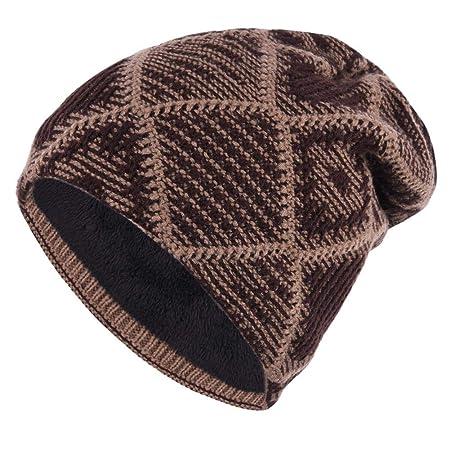 CampHiking Label - Gorro de Lana para Hombre (Terciopelo) marrón ...