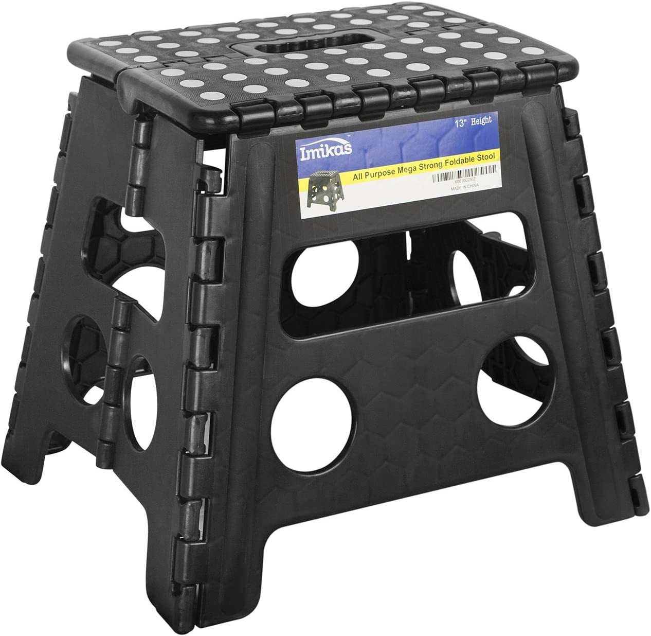 Large - Black Kitchen Garden Bathroom Collapsible Stepping Stool Folding Step Stool Foldable Stool for Kids /& Adults