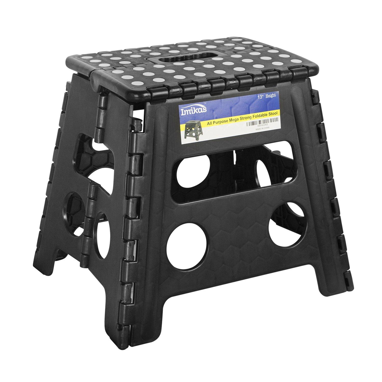 Folding Step Stool With Padded Seat Folding Step Stool