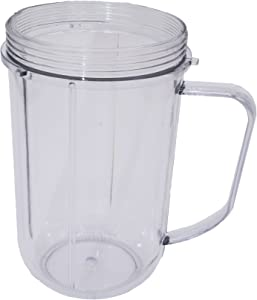 Blendin 16 Ounce Party Mug Jar Cup, Compatible with Magic Bullet MB1001 Blender