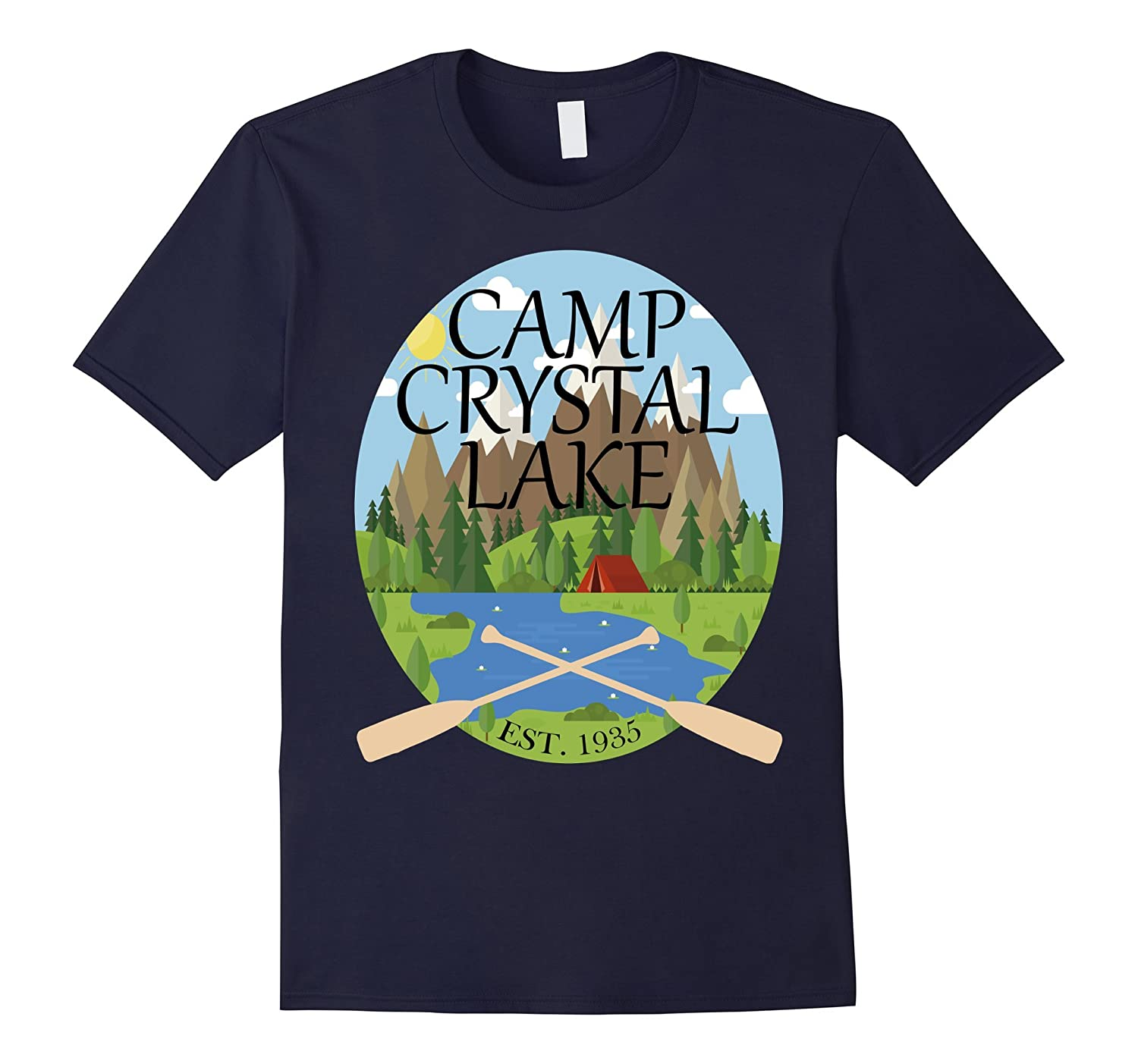 Camp Crystal Lake 13th Friday Halloween Tshirt-T-Shirt
