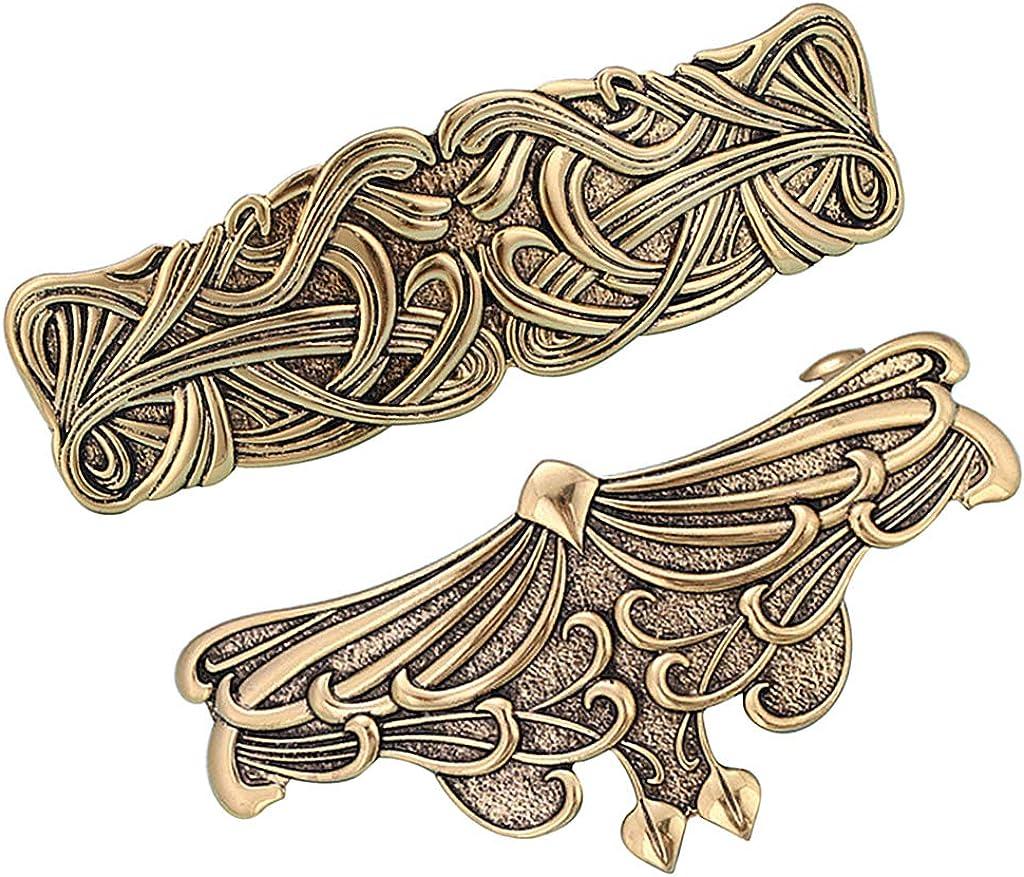 Baoblaze 2X Gro/ße Haarspange Keltische Haarnadel Hairclips Haarklemme Vintage Haarschmuck