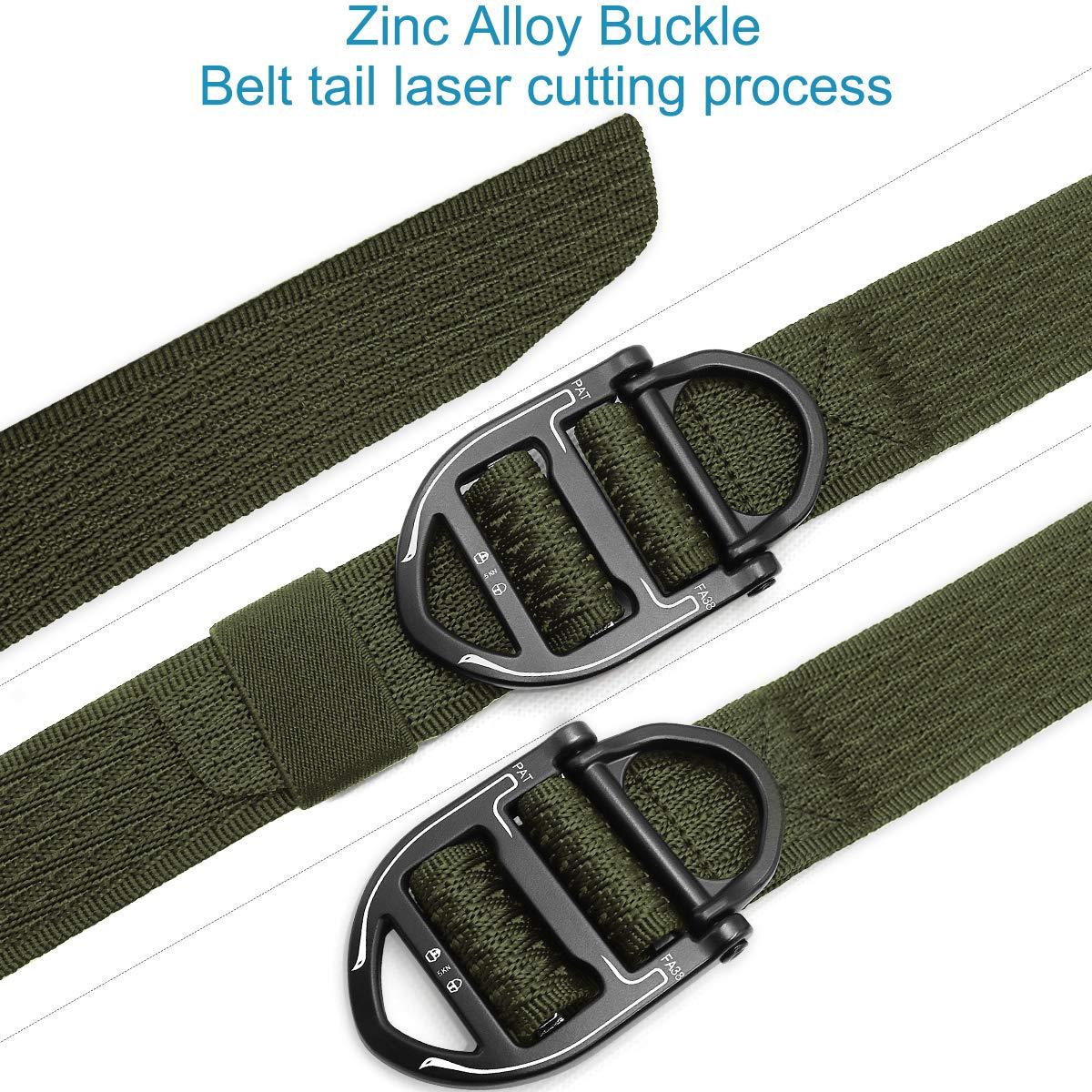 REETEE Cintur/ón T/áctico Nylon Cintur/ón T/áctico para Hombre y Mujer Cintura con Hebillas de Metal Militar Ajustable Cintura para Entrenamiento de Caza Ej/ército Que se Ejecuta