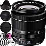 Fujifilm XF 18-55mm f/2.8-4 R LM OIS Zoom Lens (White Box) 12PC Accessory Kit. Includes Manufacturer Accessories + 3PC Filter Kit (UV-CPL-FLD) + 4PC Macro Filter Set (+1,+2,+4,+10) + Cap Keeper + MORE