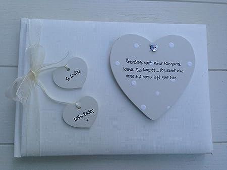 Shabby Chic especial mejor amigo amistad álbum de fotos personalizable en caja: Amazon.es: Hogar