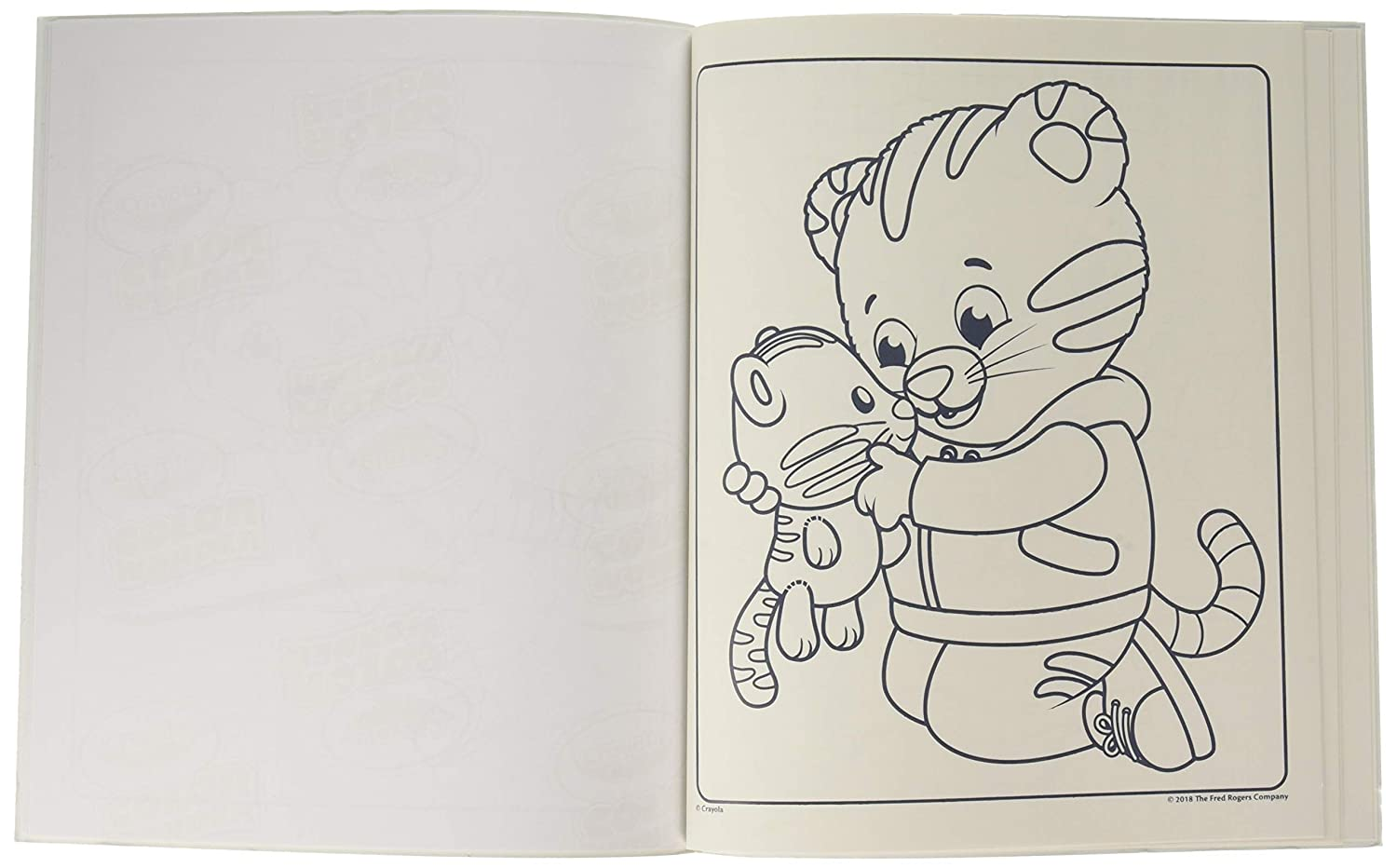 6 Gift for Age 3 Daniel Tigers Neighborhood Crayola 75-2392  Color Wonder 5 4 18 Mess Free Coloring Pages