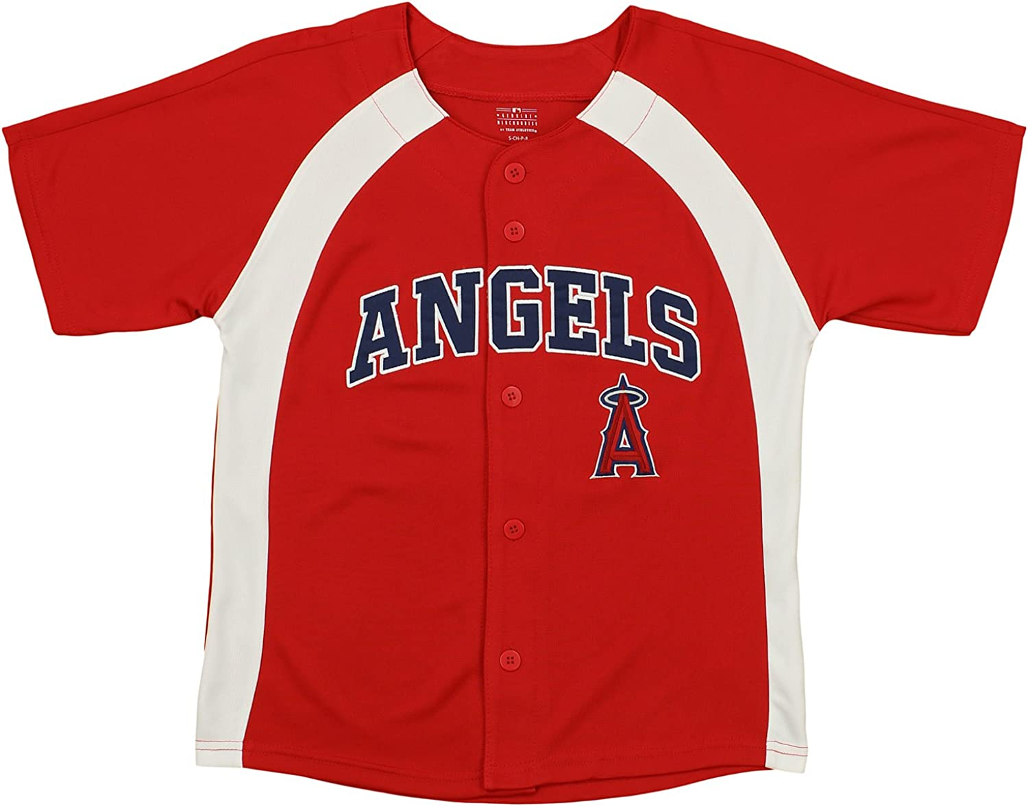 Outerstuff MLB Youth Boys (8-20) Team Color Button Down Baseball Jersey, Various Teams