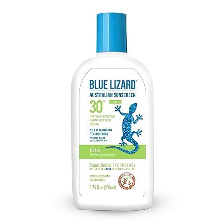Blue Lizard Kids Mineral-Based Sunscreen No Oxybenzone, No Octinoxate SPF 30 UVA UVB Protection, 8.75 oz