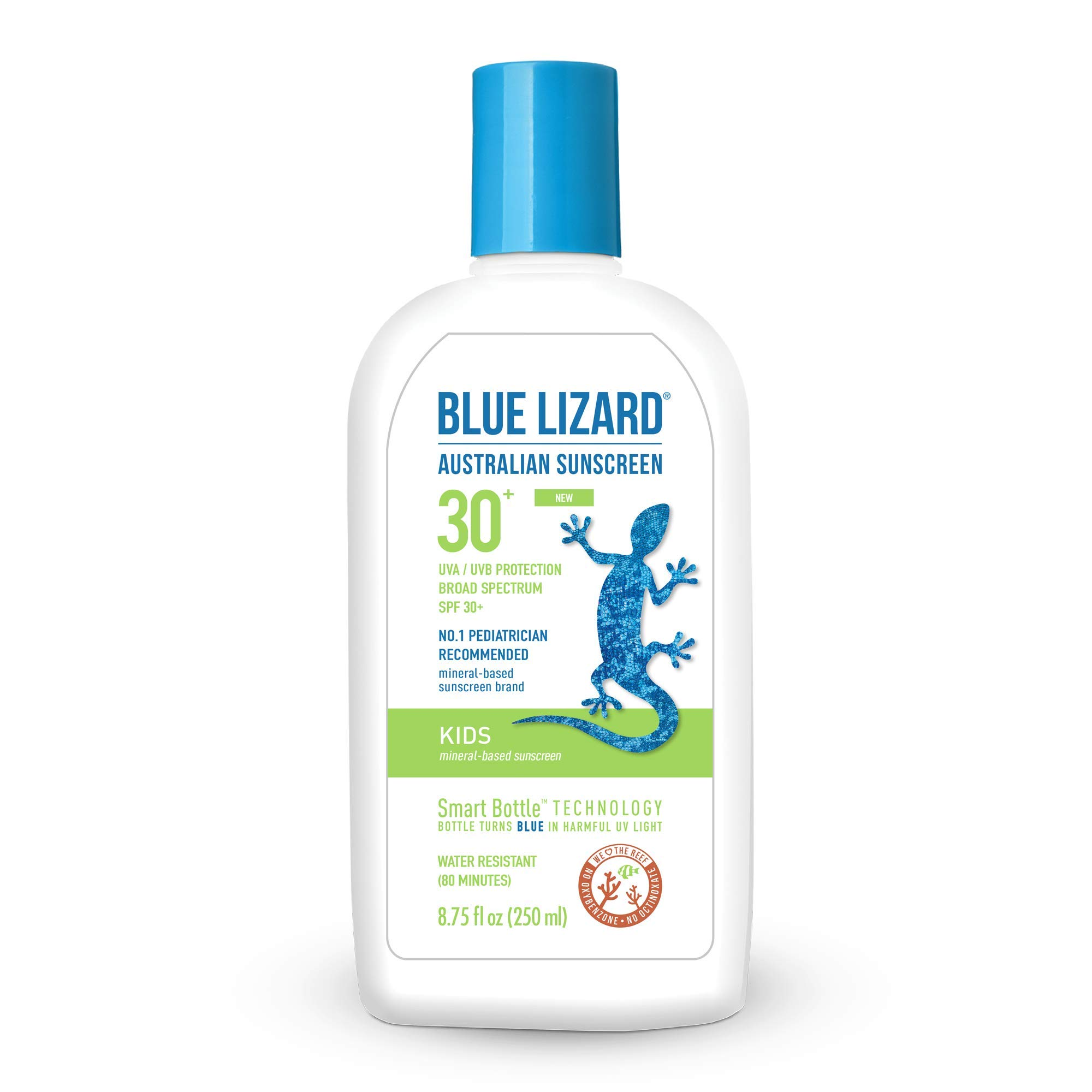 Blue Lizard Kids Mineral Sunscreen with No Chemical Ingredients SPF 30 UVA/UVB Protection, 8.75 oz Bottle