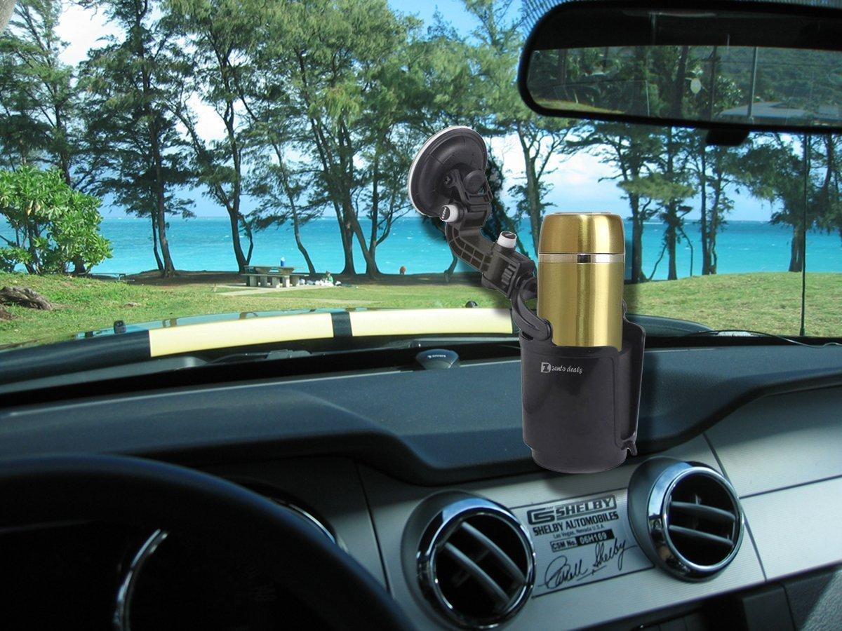 Zento Deals Premium Quality Black Recessed Folding Cup Drink Holder