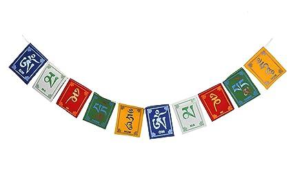Dharma Store - Tibetan Buddhist Prayer Flags Om Mani Padme Hum Mantra