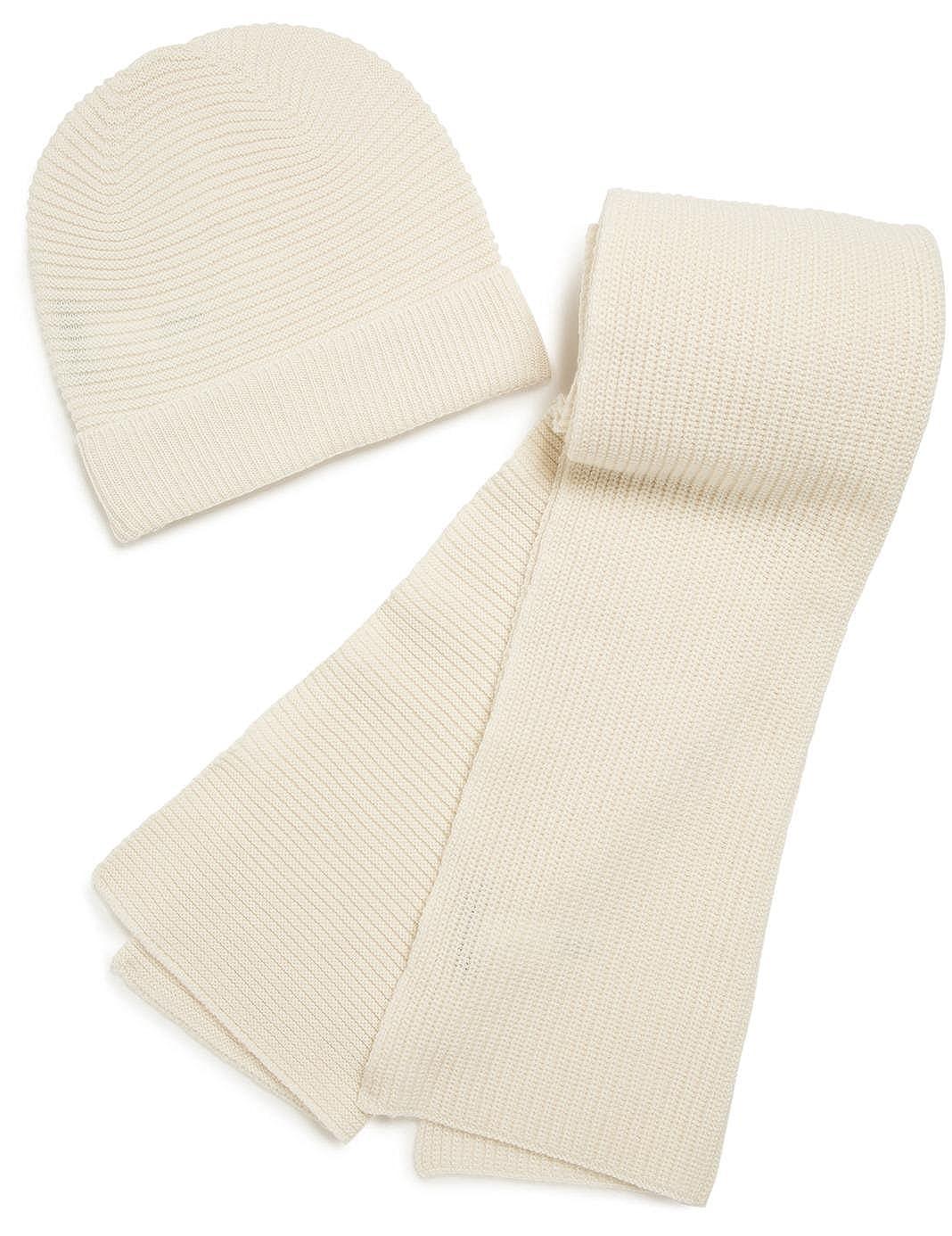 060474c741d7a MONOPRIX FEMME - Set, echarpe et bonnet, en laine et cachemire - Femme -  Taille : TU - Couleur : ÉCRU: Amazon.fr: Vêtements et accessoires