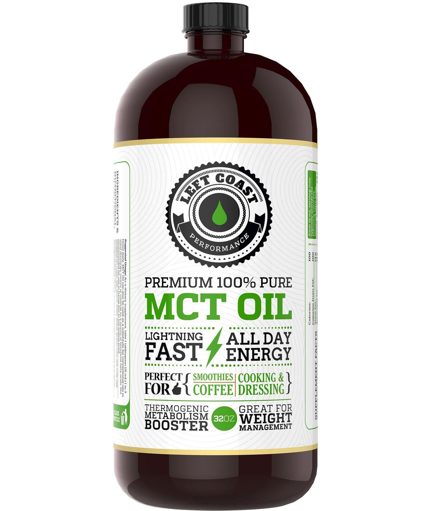 Left Coast Performance Coconut Mct Oil 32 Oz 6