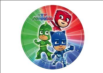 PJ Masks - Héroes en pijama - Obleas personalizables para tarta - Kit nº. 5