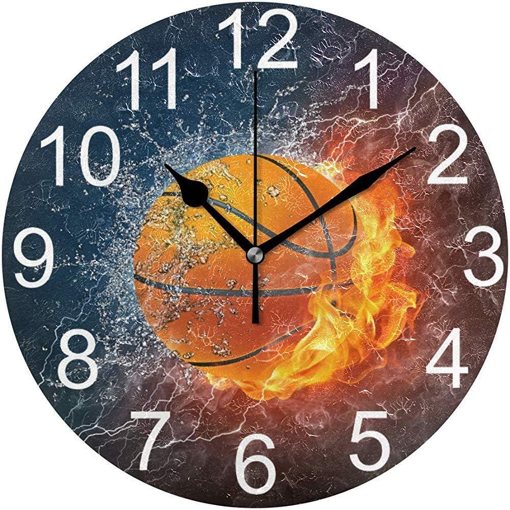 Katrine Store Baloncesto Divertido Deportes Reloj de Pared ...