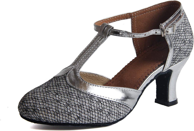 Syrads Zapatos de Baile Latino para Mujer Salsa Zapatos de Baile de Salón Tango Samba Vals