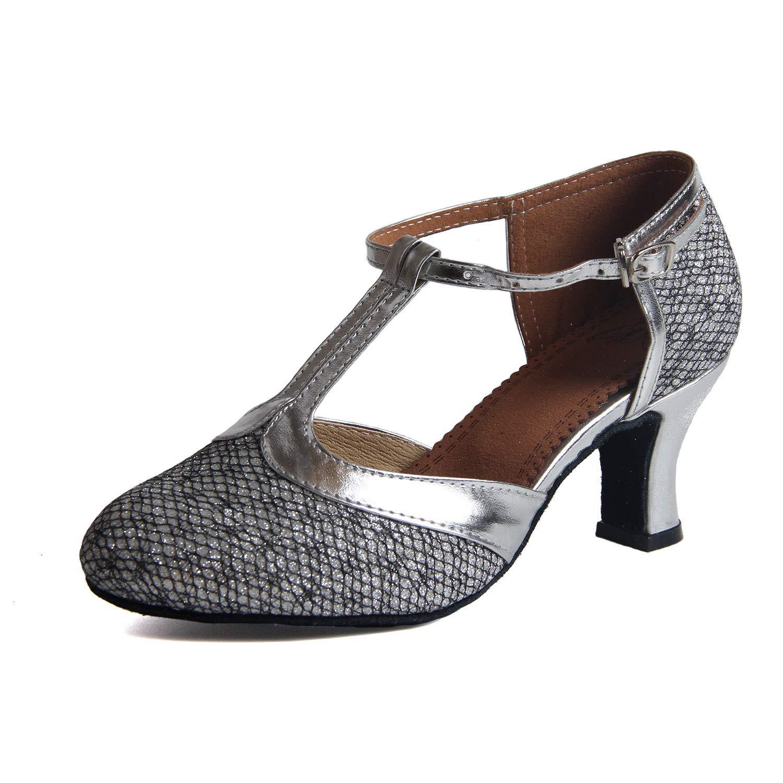 Syrads Chaussures de Danse Latine pour Femme Confortable Chaussures Danse de Salon...
